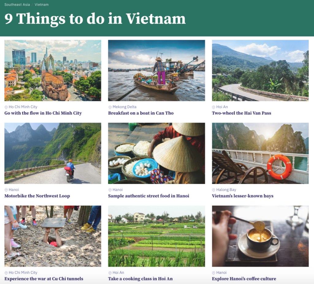 Things to do in Vietnam travel writing content by Nick Howard for Horizon Guides.
